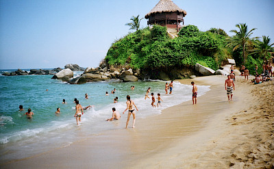 Cabo San Juan beach, a popular swimming spot, in Colombia. CC:Luis Perez