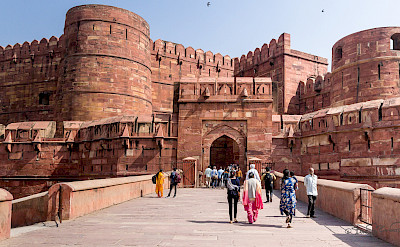 Fort in Agra, India. Flickr:Steven dosRemedios