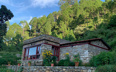 Pine Cottage accommodation at Itmenaan Estate, Kumaon region, India