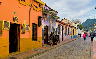 Walking the streets of Bogotá, Colombia. Flickr:Pedro Szekely