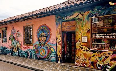 Beautiful murals in Bogotá, Colombia. Flickr:Pedro Szekely