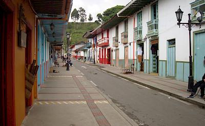 Calle Real in Salento, Colombia. CC:Sebasmrodriguez