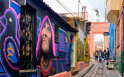 Colorful streets in Bogotá, Colombia. Flickr:Pedro Szekely