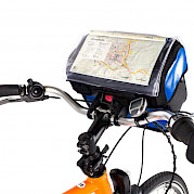 Handlebar bag with waterproof map cover