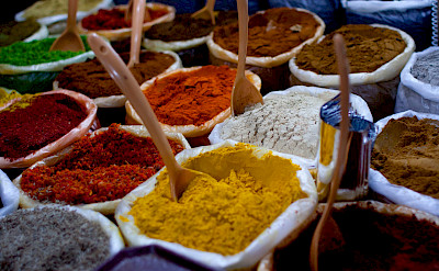 Spice market in India. Flickr:Dennis Yang