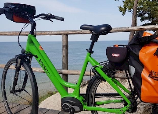Electric bike available along the Baltic Sea Coast