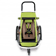 One-luggage Croozer trailer (ariel view)