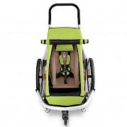 One-luggage Croozer trailer (ariel view)