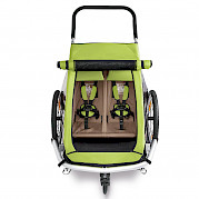 Two-luggage Croozer trailer (ariel view)
