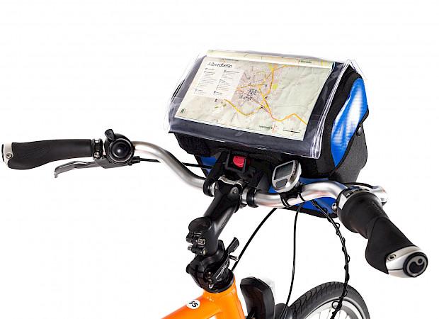 Front bike map holder