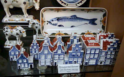 Delft blue for sale in Vermeer's hometown of Delft in South Holland, the Netherlands. Flickr:bert knottenbeld