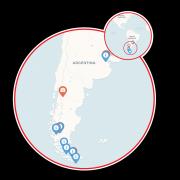 Argentina & Fjords of Tierra del Fuego Map