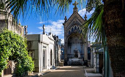 La Recoleta Cemetery with Eva Peron's tomb in Buenos Aires, Argentina. Flickr:Steven dosRemedios