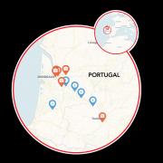 Bordeaux - Serignac to Castets-en-Dorthe Map