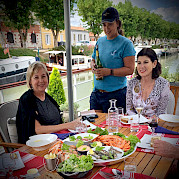 Dining on Deck | Saint Louis | Bike & Boat Bordeaux France ©Saint Louis