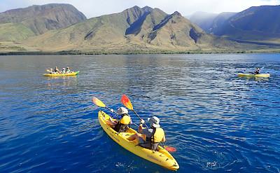 Kayaking off Maui Coast, Hawaii. ©TO