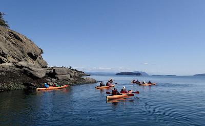 Kayaking around the San Juan Islands, Pacific Northwest. ©TO