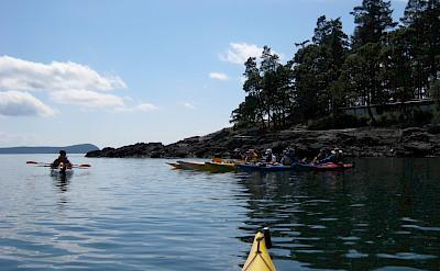 Kayaking Sucia Island, Washington. Flickr:Zack Kruzins