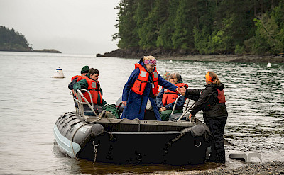 Skiff ride on Cypress Island, Pacific Northwest. ©TO