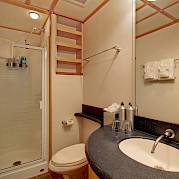 Captain cabin bathroom | Safari Quest | Pacific Northwest Cruise Tour