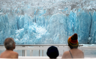 Viewing Dawes Glacier from a hot tub in Alaska!! ©TO