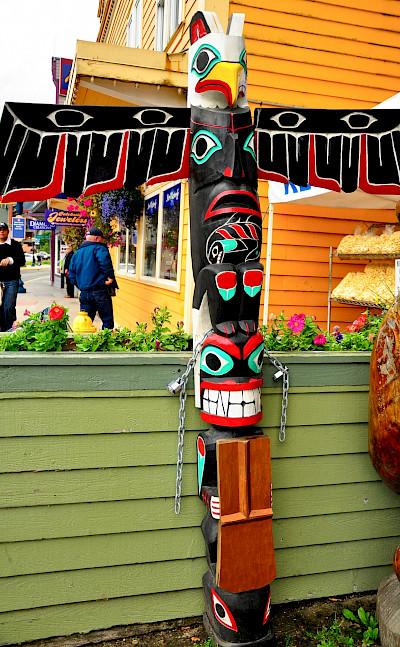 Totem poles in Juneau, Alaska. Flickr:Kimberly Vardeman