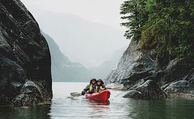 Kayaking in hidden coves in Alaska. ©TO