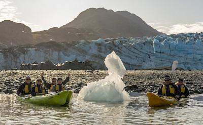 Kayaking in front of Lamplugh Glacier, Alaska. ©TO