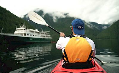 Kayaking in Misty Fjords National Monument in Alaska. ©TO