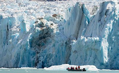 Skiff ride along Dawes Glacier in Glacier Bay National Park, Alaska. ©TO