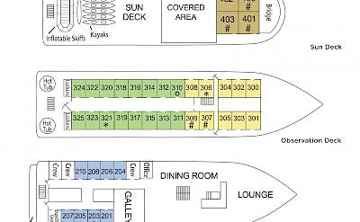 Deck plan   Wilderness Explorer   Alaska and USA Cruise Tour