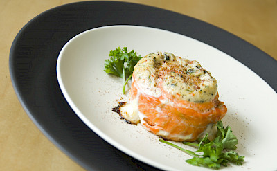 Alaskan Sockeye Salmon with King Crab Stuffing! Flickr:TheBusyBrain