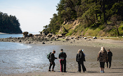 Beach walk on Cypress Island in the San Juans, Pacific Northwest. ©TO