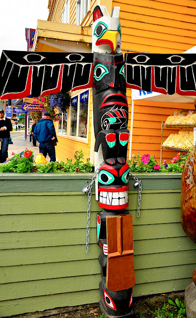 Totem poles in Juneau, Alaska. Flickr:Kimberly Vardeman