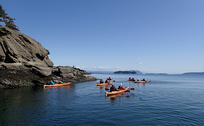 Kayaking around the San Juan Islands. ©TO