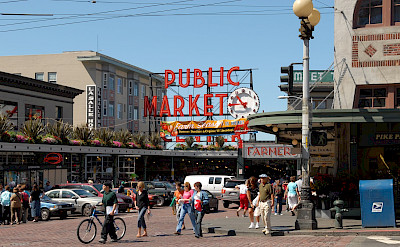 The famous Public Market in Seattle, Washington. Flickr:Mike Knell
