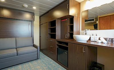 Explorer cabin sofa | Wilderness Explorer | Alaska Cruise Tour