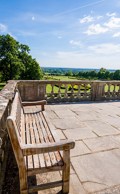 Balcony at Cliveden, England. Flickr:James Petts