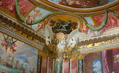 Frescos at Hampton Court Palace in England. Flickr:Paul Hudson