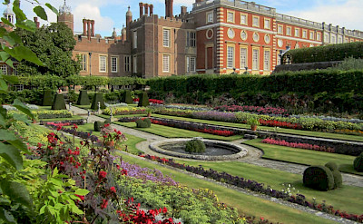 Gardens at Hampton Court Palace in England. Flickr:David Stanley