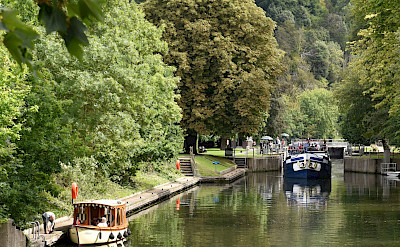 Boating on the Thames River in England. ©TO