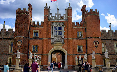 The Tudor Great Gatehouse at Hampton Court, a royal palace in Richmond upon Thames, England. Flickr:Paul Hudson