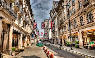 Union Jacks in London, England. Flickr:Mark Tominski