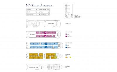 Deckplan | Stella Australis | Boat Tours