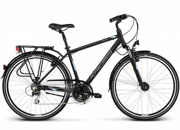 Kross 2 hybrid touring bike with horizontal bar frame
