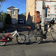 Follow-me tandem bike