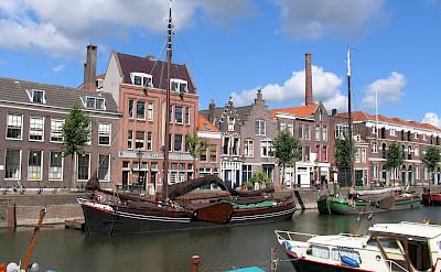 Boats in Schiedam, the Netherlands. Flickr:bert knottenbeld