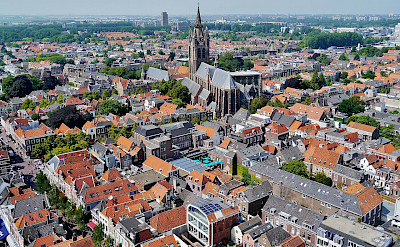 <i>Oude Kerk</i> in Delft, South Holland, the Netherlands. CC:Zairon