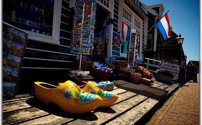 Souvenirs from Holland: cheese (<i>kaas</i>) or wooden shoes (<i>klompen</i>. Flickr:Moyan Brenn