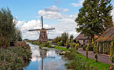 Typical Dutch countryside near Rotterdam in the Netherlands. ©Hollandfotograaf